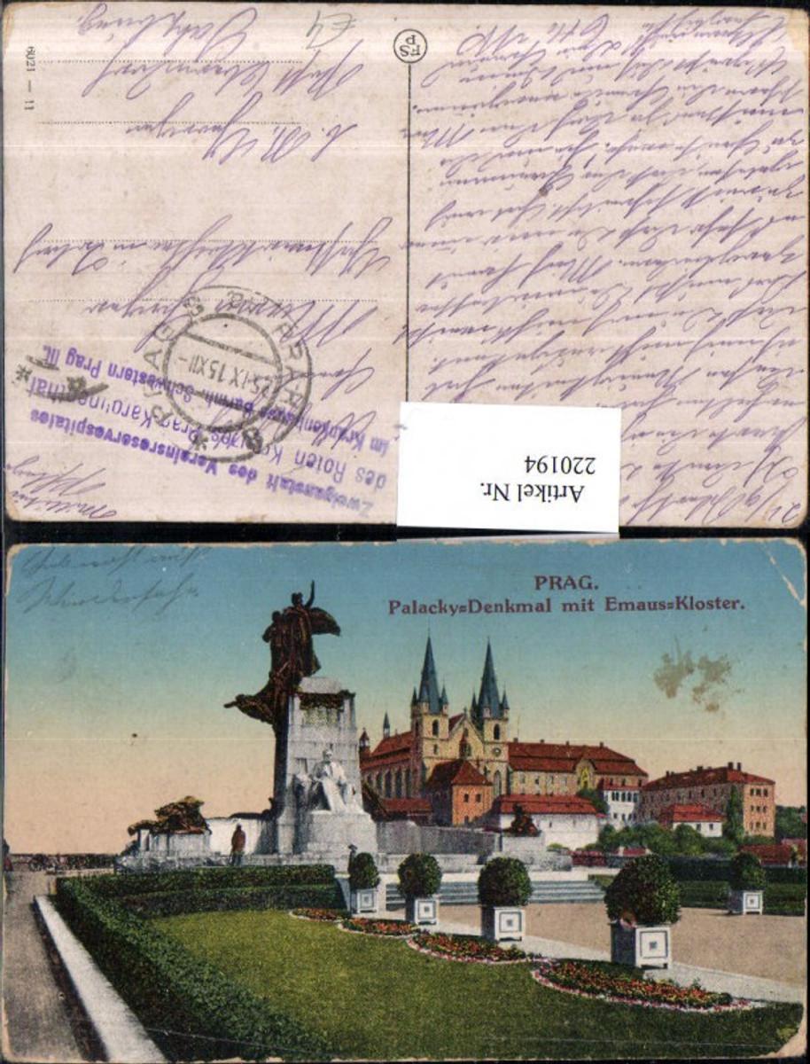 220194,Prag Praha Palacky-Denkmal m. Emaus-Kloster günstig online kaufen