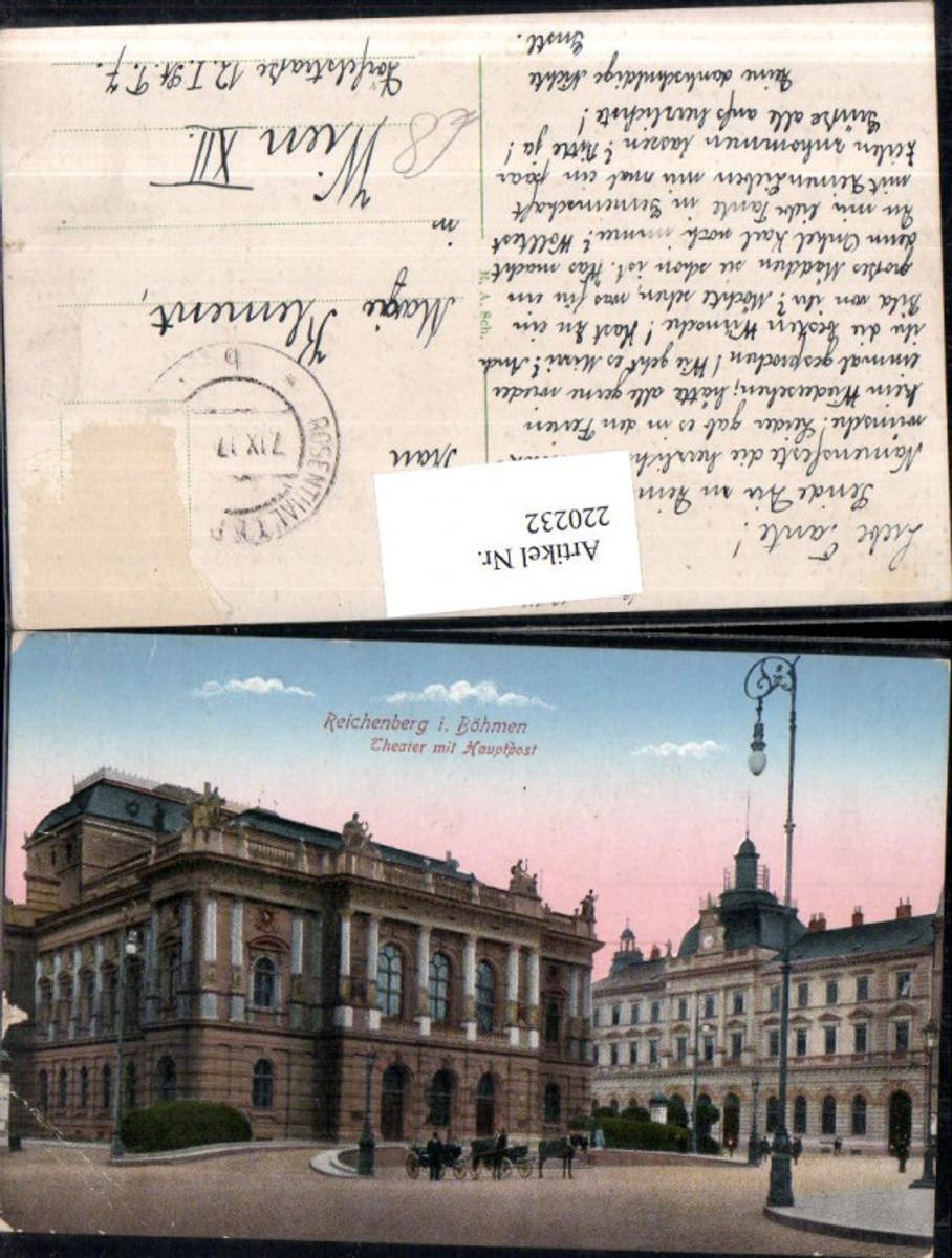 220232,Reichenberg i. Böhmen Liberec Theater m. Hauptpost günstig online kaufen