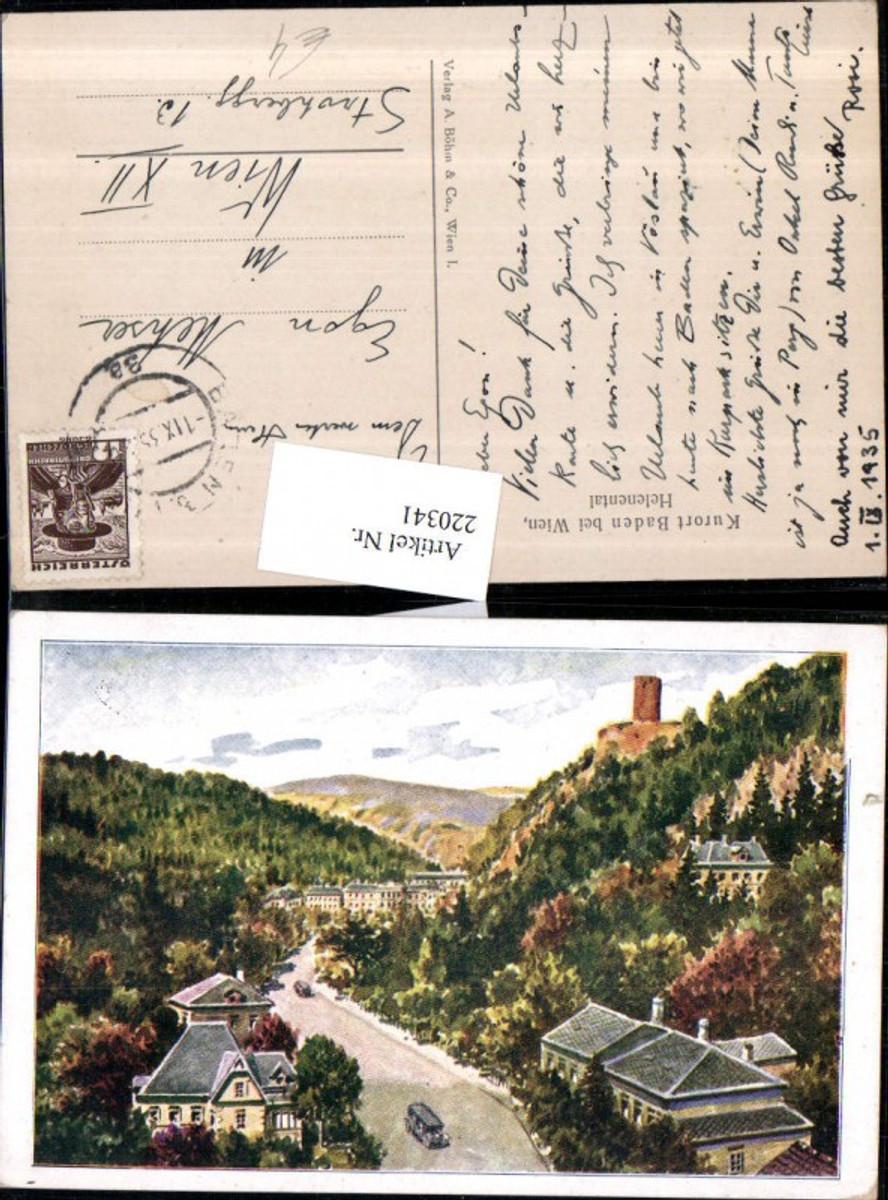 220341,Baden b. Wien Helenental m. Ruine günstig online kaufen