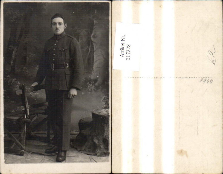 217278,WW2 Foto Ak Wehrmacht Soldat Uniform günstig online kaufen