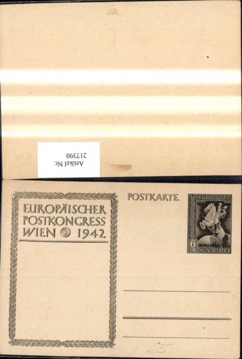 217390,WW2 Ganzsache Europäischer Postkongress Wien 1942 günstig online kaufen