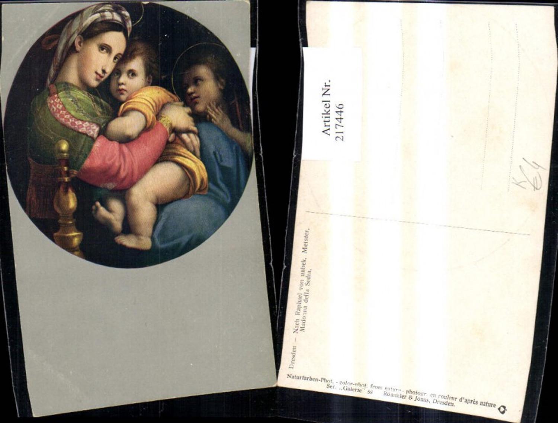 217446,Religion Künstler Ak Nach Raphael v. Unbekannten Künstler Madonna della Sedia  günstig online kaufen