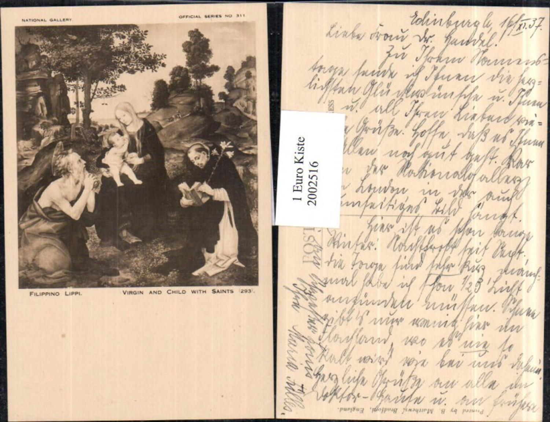 """2002516,Künstler AK Filippino Lippi """"Virgin and Child with Saints"""" Jungfrau Maria m. Christuskind günstig online kaufen"""