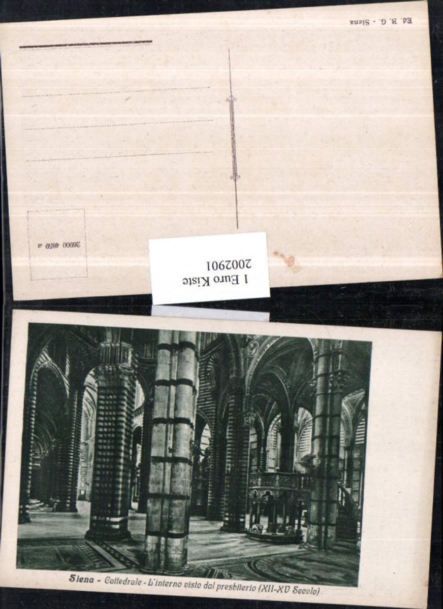 2002901,Siena Cattedrale L'interno visto dal presbiterio Kirche Innenansicht günstig online kaufen