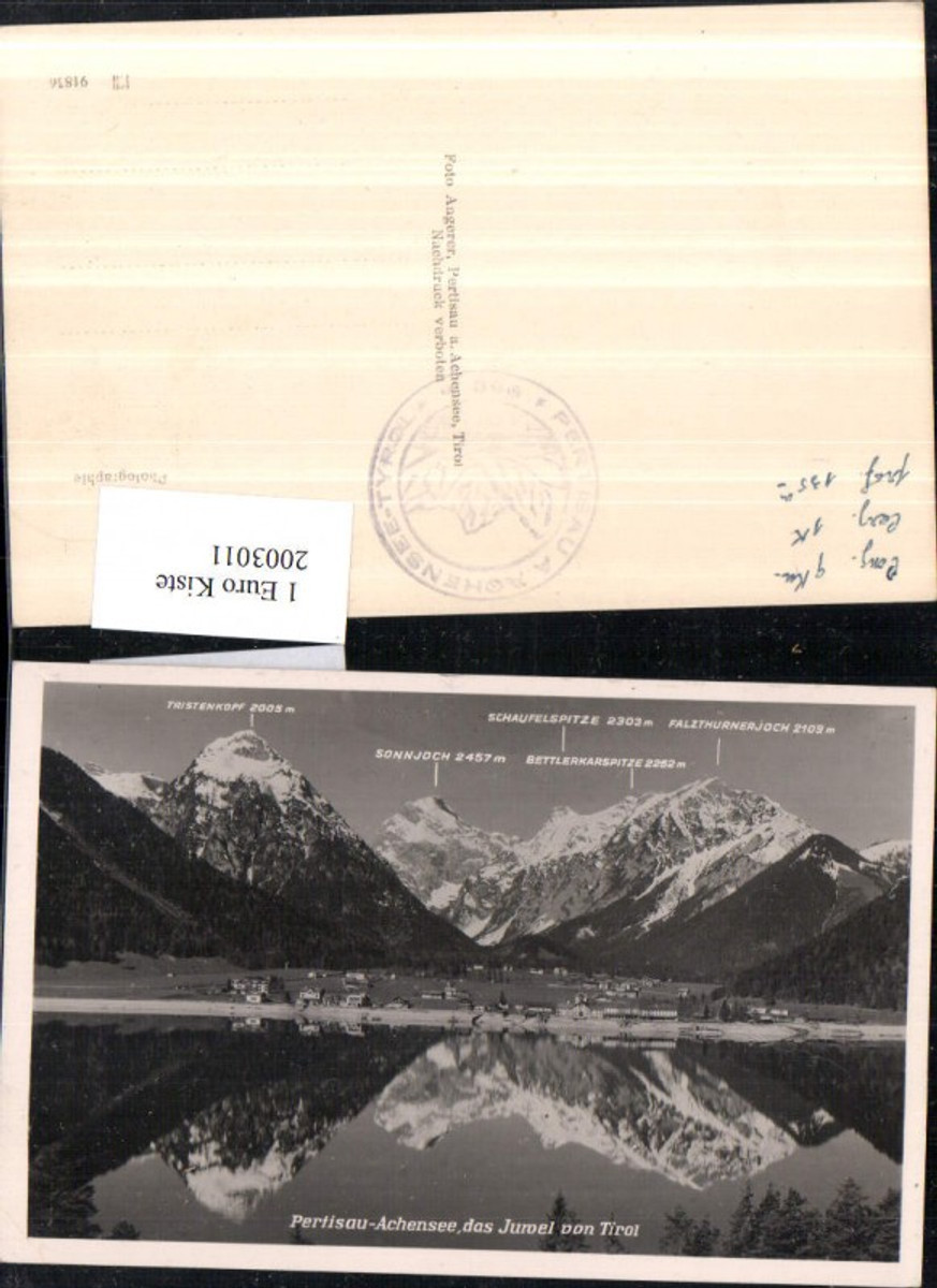 2003011,Pertisau a. Achensee Totale m. Tristenkopf Sohnjoch Schaufelspitze Bettlerkarspitze Falzthurnerjoch günstig online kaufen
