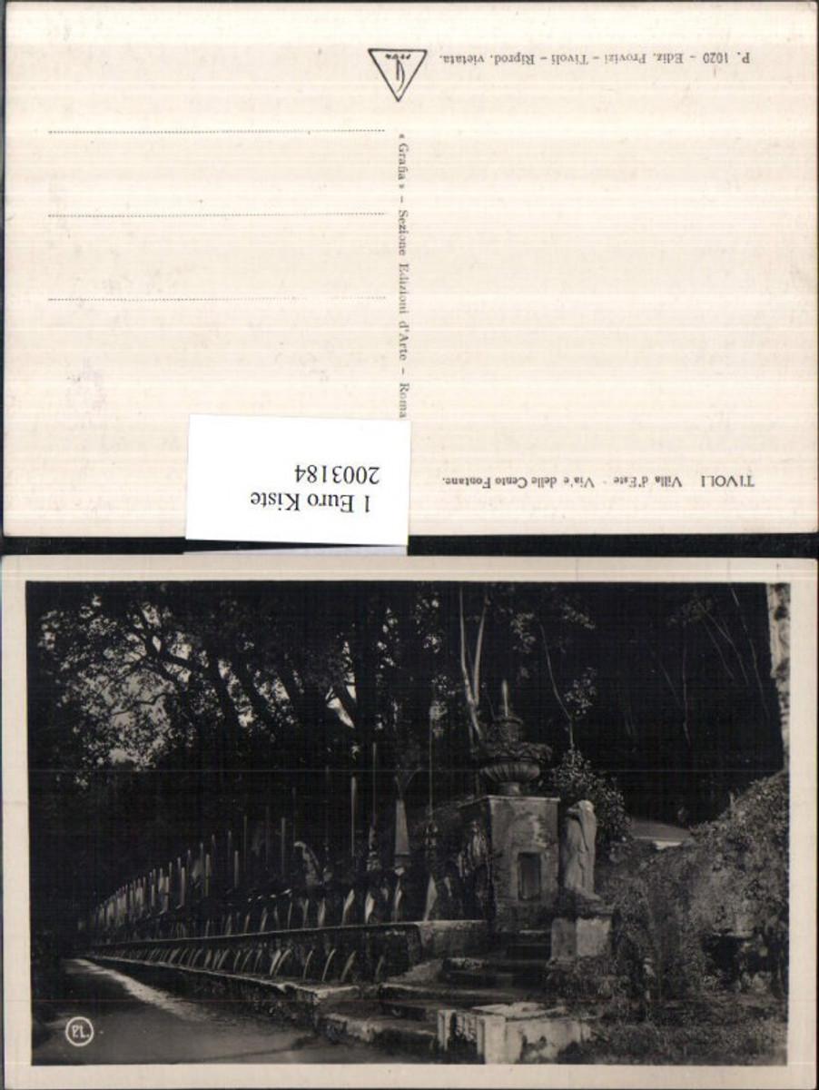 2003184,Tivoli b. Rom Villa d'Este Via'e delle Cento Fontane Springbrunnen Brunnen günstig online kaufen