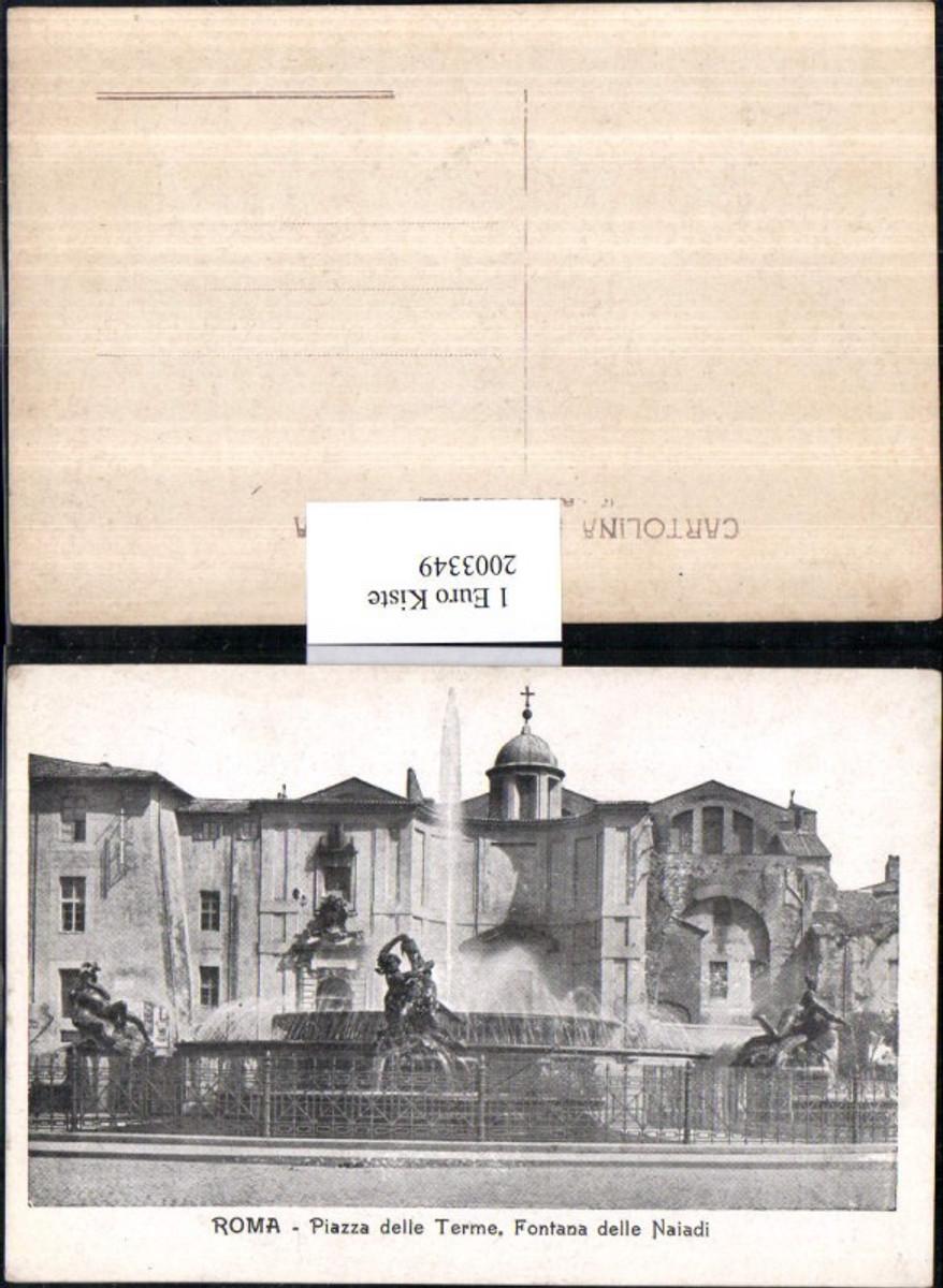 2003349,Roma Rom Piazza delle Terme Fontana delle Naiadi Springbrunnen Brunnen günstig online kaufen