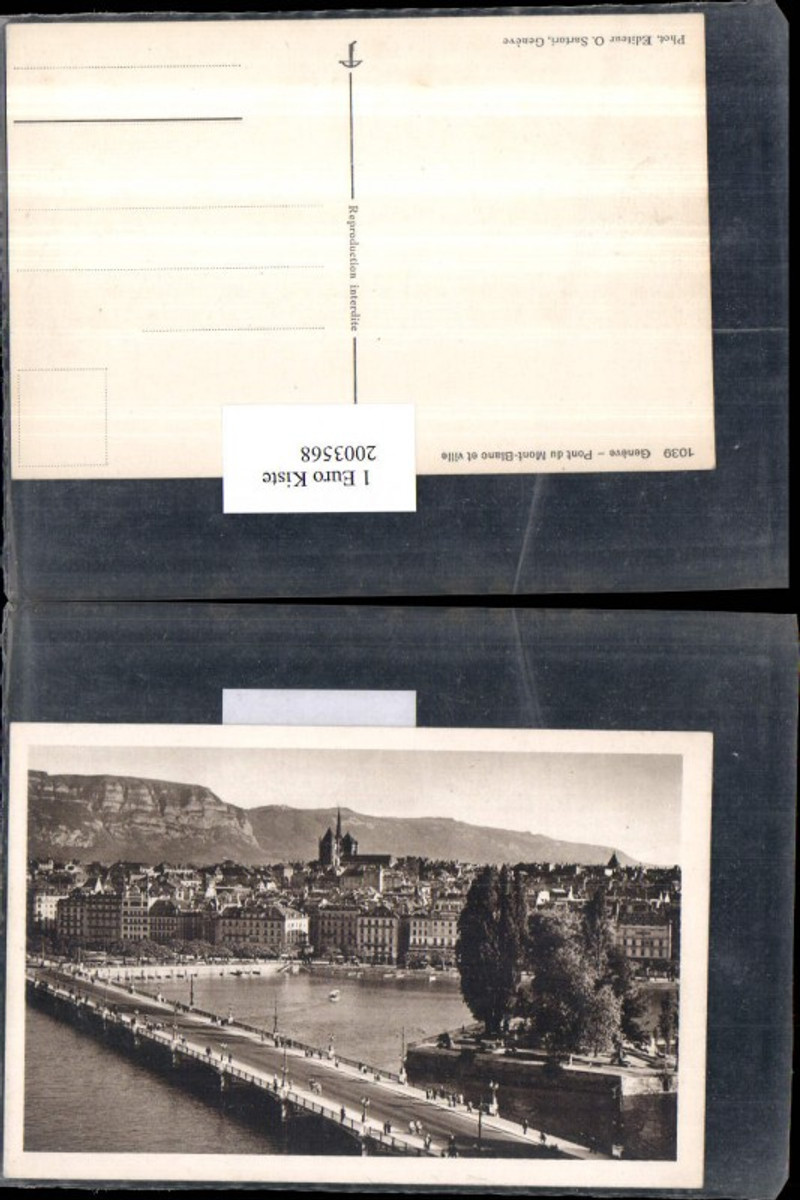 2003568,Geneve Genf Pont du Mont Blanc et ville Brücke Insel günstig online kaufen