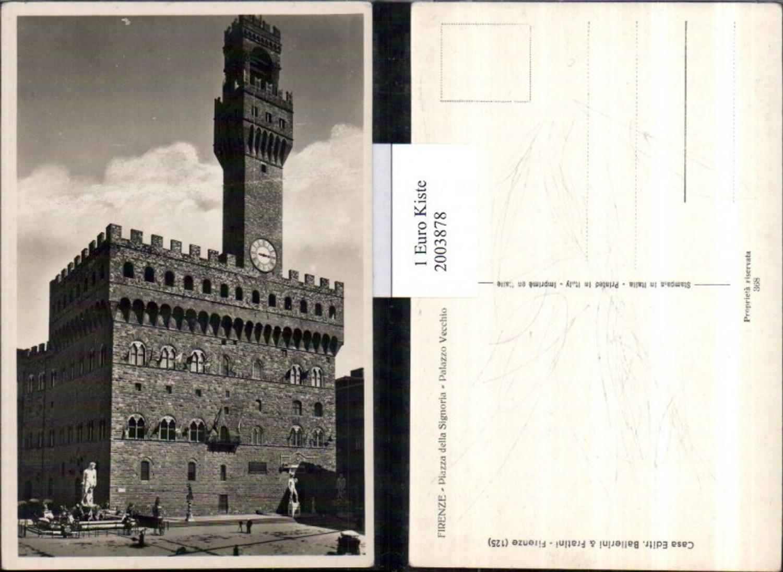 2003878,Firenze Florenz Piazza della Signoria Palazzo Vecchio Turm Gebäude günstig online kaufen