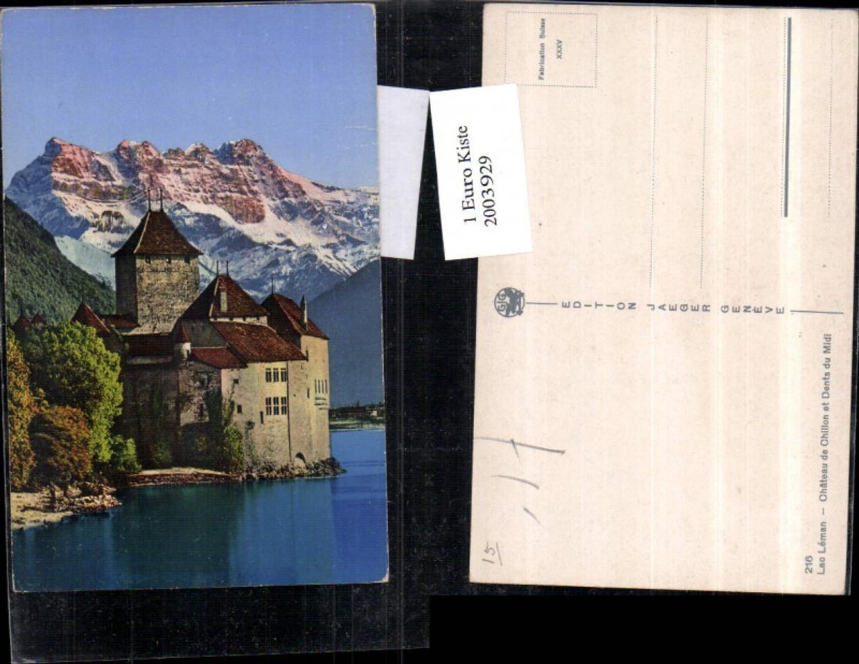 2003929,Lac Leman Chateau de Chillon et Dents du Midi Schloss b. Montreux günstig online kaufen