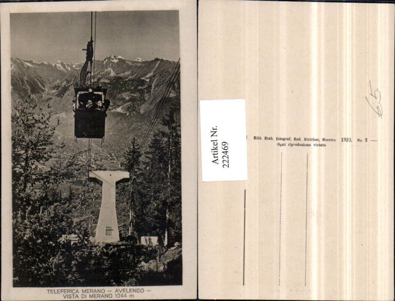 222469,Trentino Teleferica Merano Avelengo Vista di Merano Meran Seilbahn Gondel günstig online kaufen