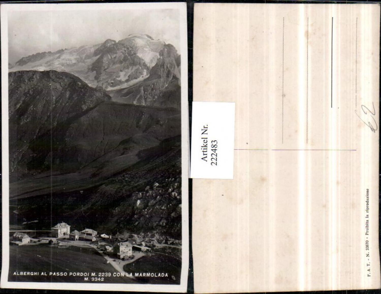 222483,Trentino Alberghi al Passo Pordoi con la Marmolada M. b. Trento Trient günstig online kaufen