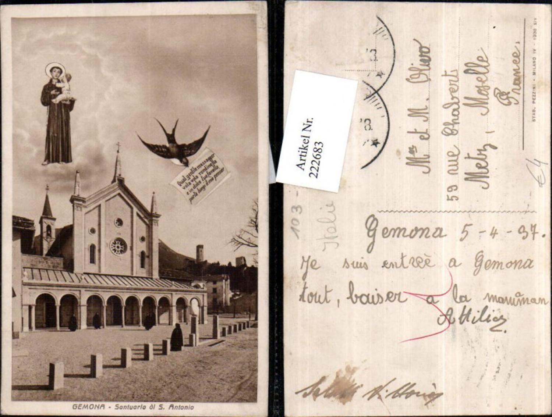 222683,Friuli-Venezia-Giulia Gemona Santuarlo di S. Antonio Kirche Gnadenbild Schwalbe günstig online kaufen