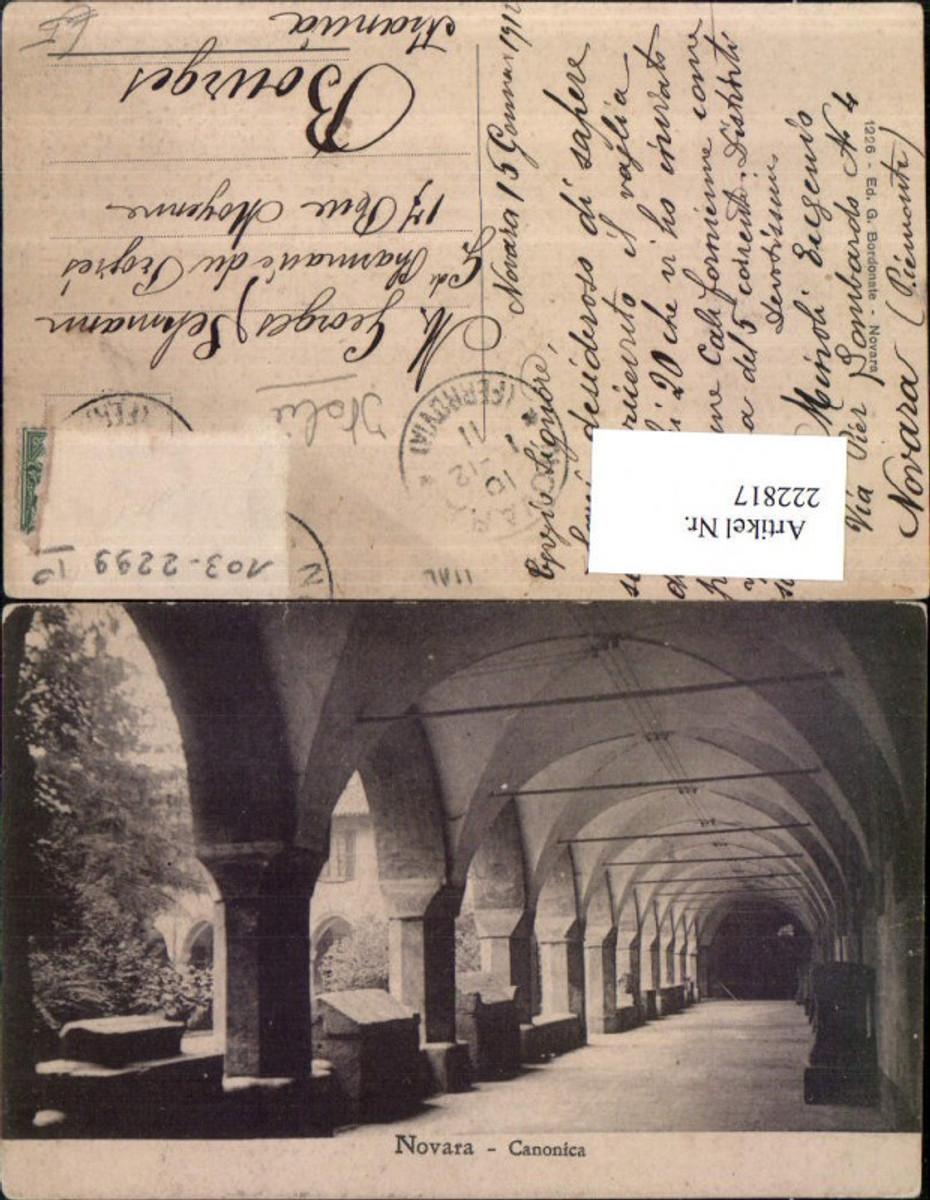 222817,Piemonte Novara Canonica Kloster Kreuzgang Gang Arkaden günstig online kaufen