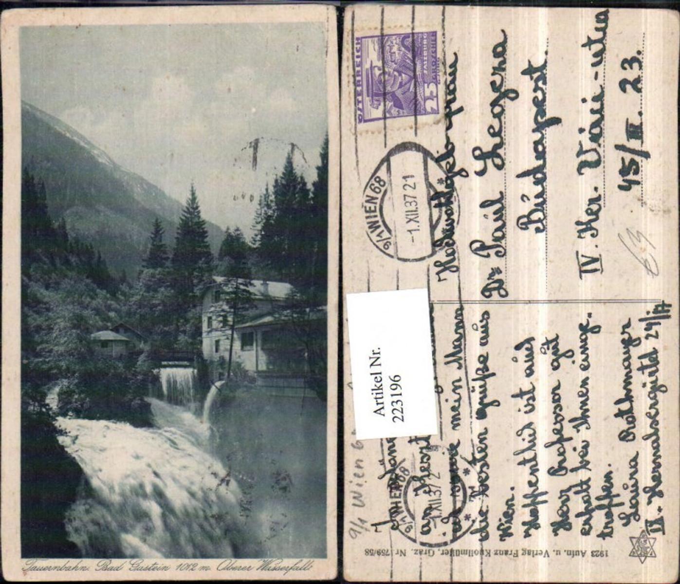 223196,Tauernbahn Bad Gastein Oberer Wasserfall günstig online kaufen