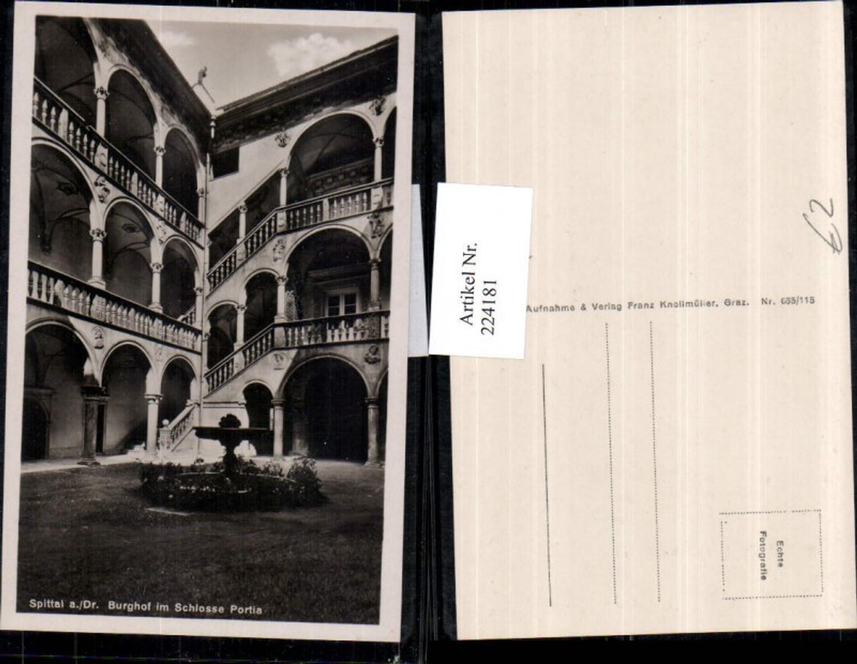 224181,Spittal a. d. Drau Burghof im Schloss Portia Schoss Brunnen Arkaden günstig online kaufen