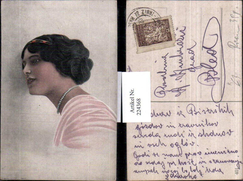 224368,Künstler AK Frau m. Haarreif Kette Portrait günstig online kaufen