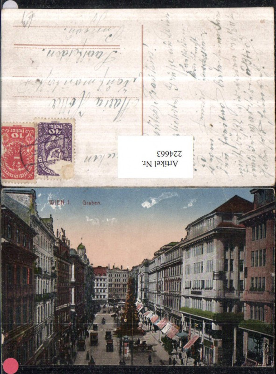 224663,Wien 1 Graben Pestsäule Säule Geschäfte günstig online kaufen