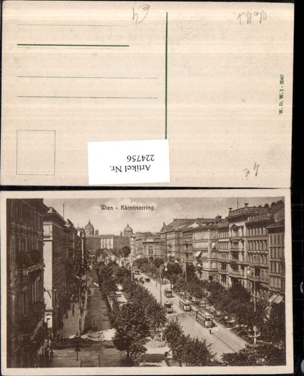 224756,Wien 1 Kärntner-Ring Straßenbahnen günstig online kaufen