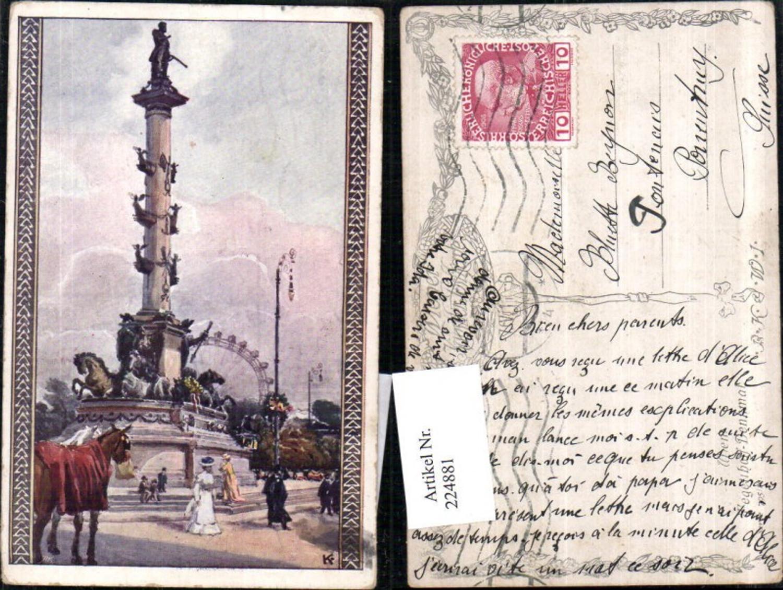 224881,Künstler AK Wien Leopoldstadt Tegetthoff-Denkmal günstig online kaufen