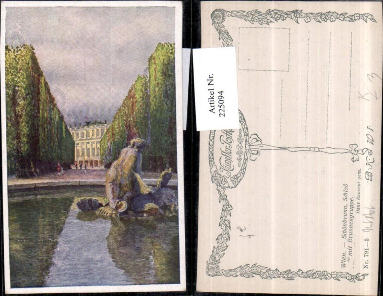 225094,Künstler AK Hans Ranzoni Wien Hietzing Schönbrunn Schloss m. Brunnengruppe günstig online kaufen