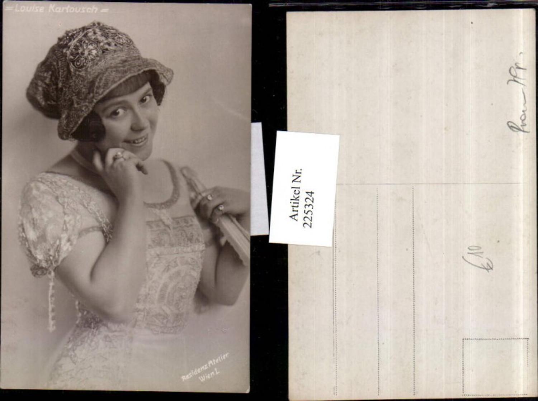 225324,Schauspielerin Louise Kartousch Portrait m. Haube günstig online kaufen