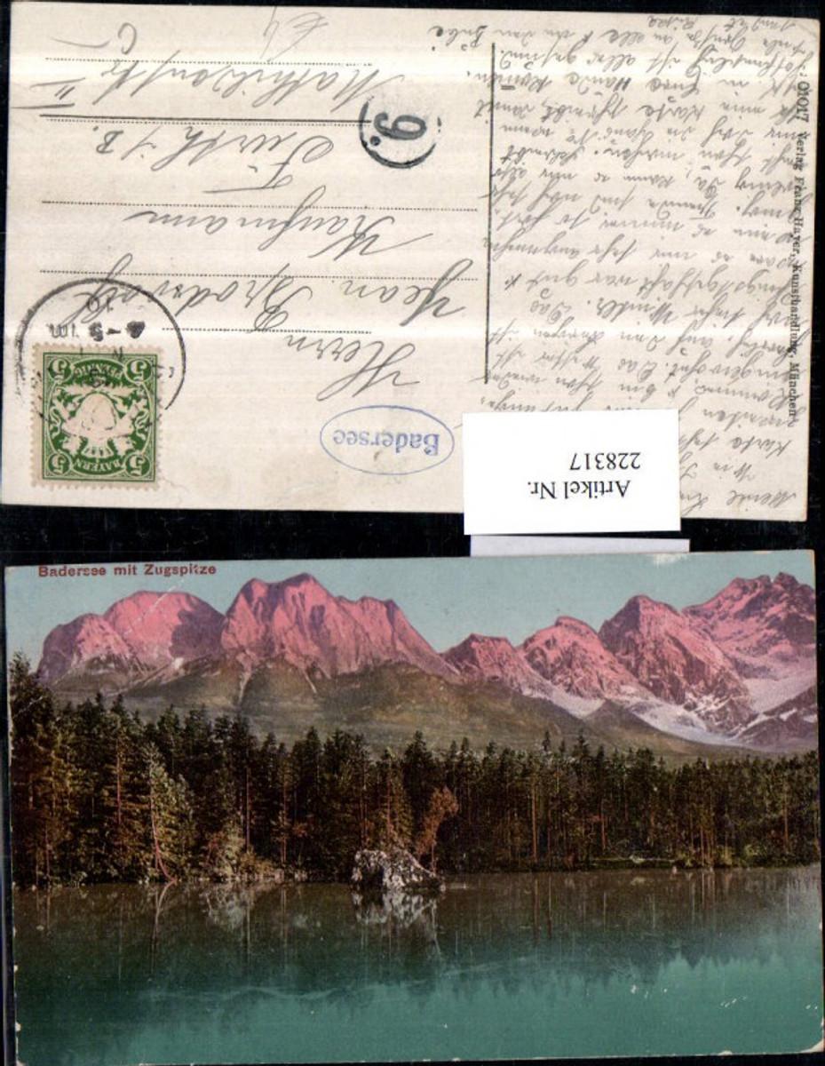 228317,Badersee See b. Grainau b. Garmisch-Partenkirchen m. Zugspitze günstig online kaufen