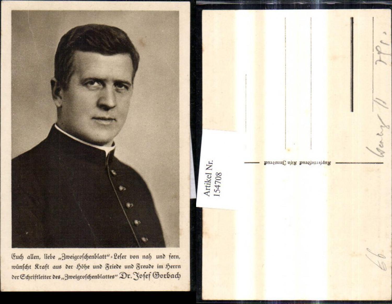 154708,Dr. Josel Gorbach Religion Zweigroschenblatt Schriftleiter  günstig online kaufen
