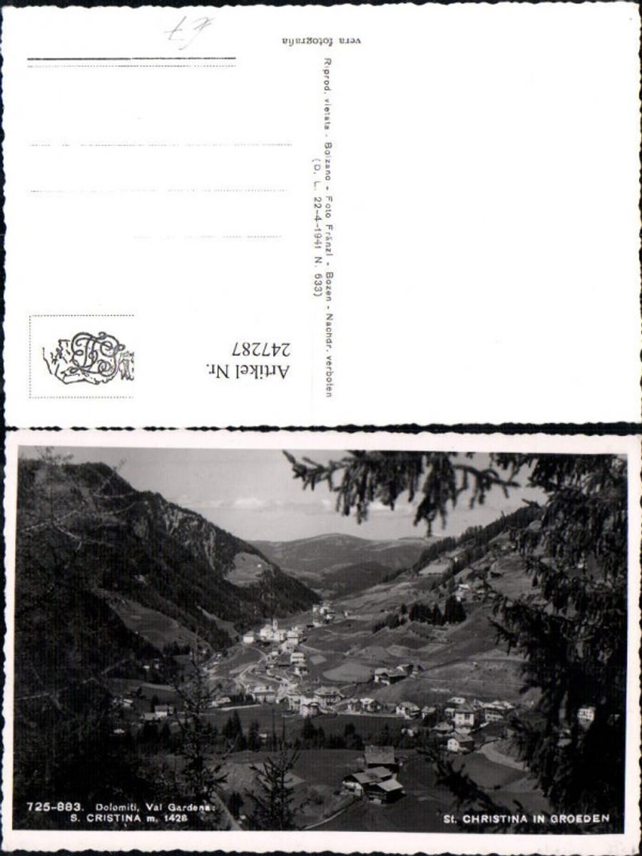 247287,Trentino Bolzano Val Gardena St. Christina in Gröden Totale günstig online kaufen