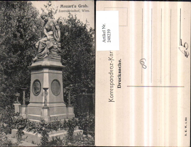 248239,Wien Simmering Zentralfriedhof Mozarts Grab pub Brüder Kohn B.K.W.I. 833 günstig online kaufen