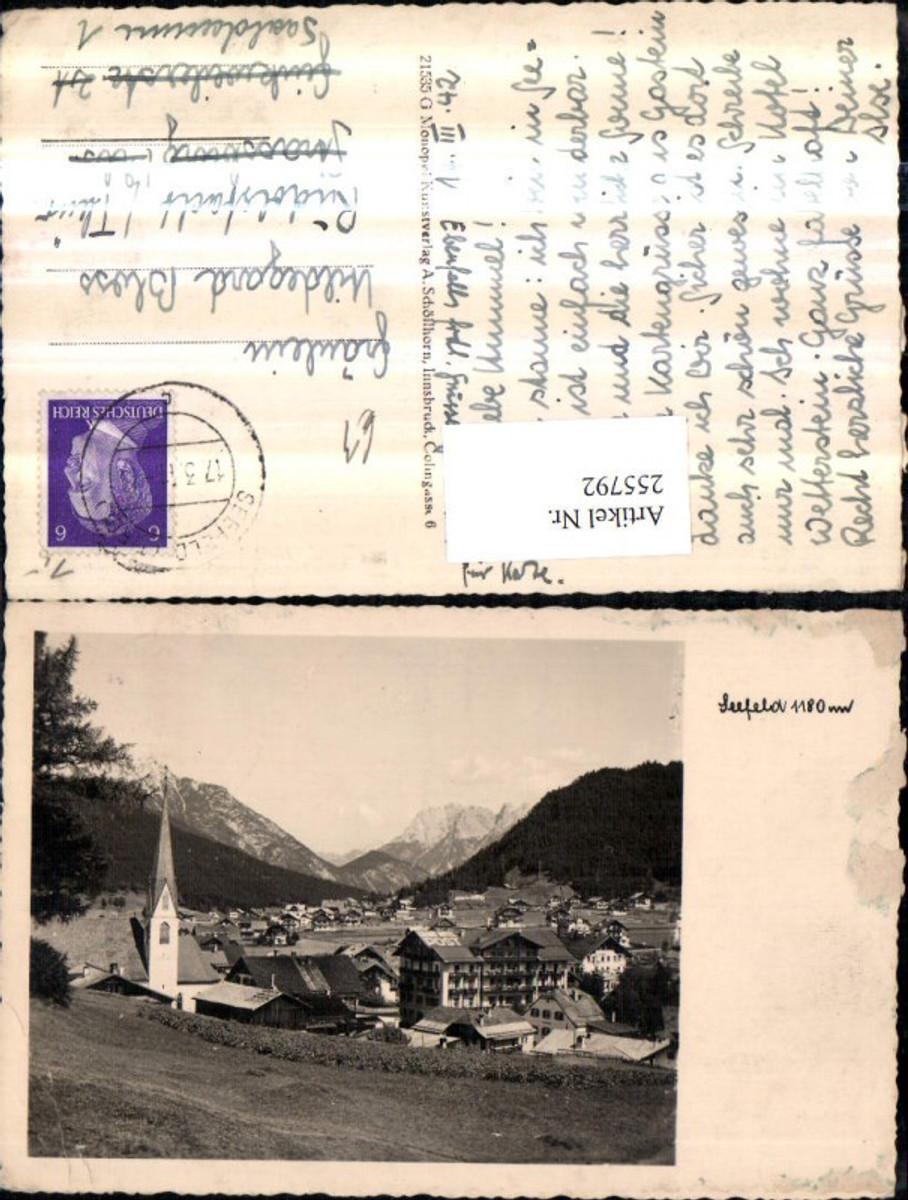 255792,Seefeld in Tirol Totale Kirche Bergkulisse günstig online kaufen