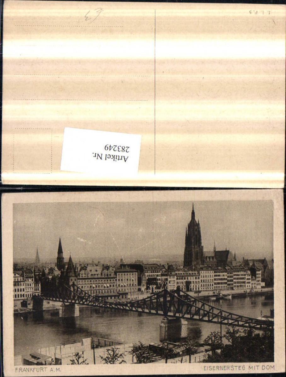 283249,Frankfurt am Main Teilansicht Eiserner Steg Brücke m. Dom Kirche günstig online kaufen