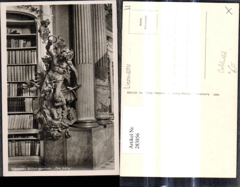 283856,Foto Ak Bibliothek Admont Die Hölle Statue  günstig online kaufen