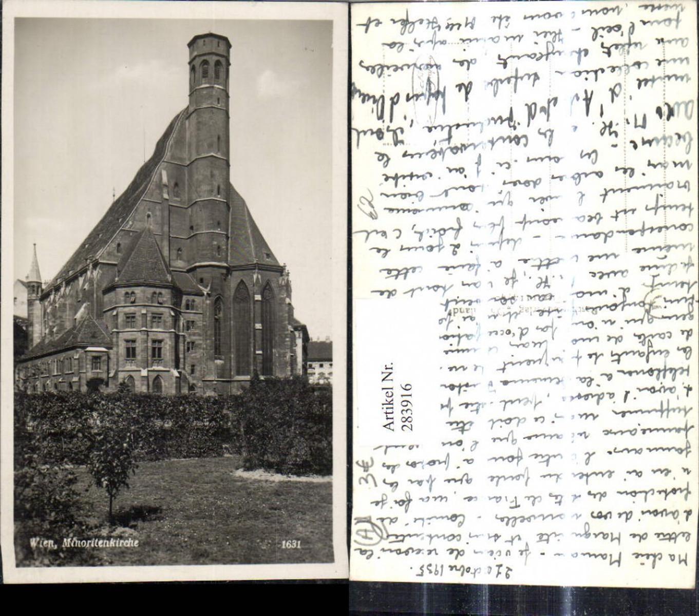 283916,Foto Ak Wien Minoritenkirche Kirche  günstig online kaufen