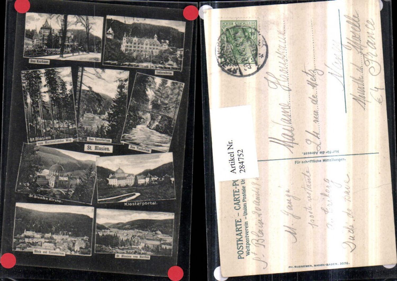 284752,St. Blasien Totale Kirche Klosterpotal Luisenheim Kurhaus Sanatorium Mehrbildkarte günstig online kaufen