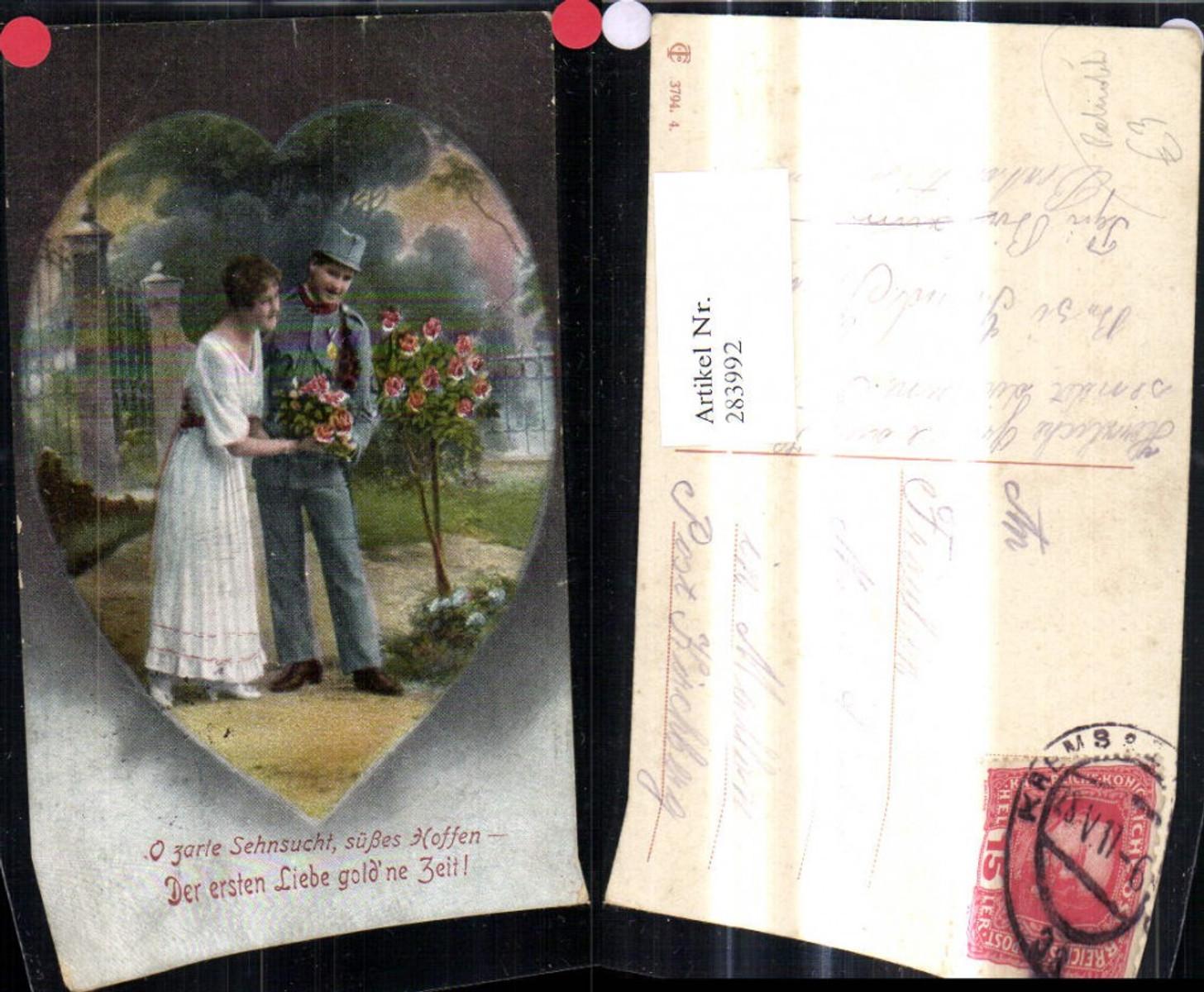283992,Liebe Paar Soldat Rosen Herz Spruch Patriotik  günstig online kaufen