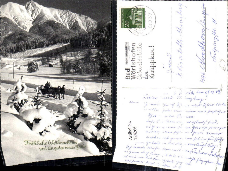 284266,Kutsche Schlitten Pferdeschlitten i. Winterlandschaft Bergkulisse  günstig online kaufen