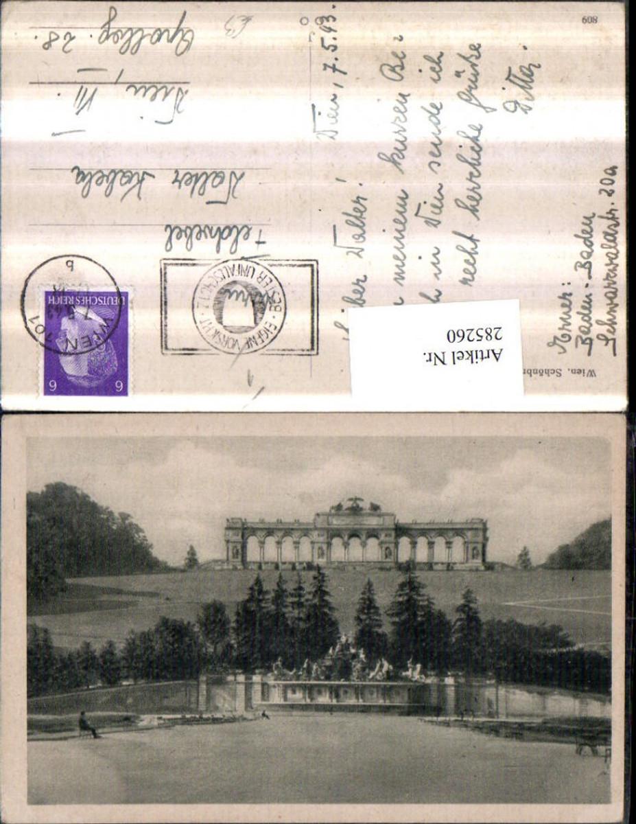 285260,Wien Hietzing Schönbrunn Neptun-Grotte m. Gloriette günstig online kaufen