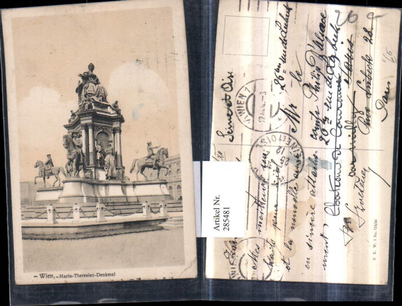 285481,Wien Innere Stadt Maria-Theresien-Denkmal pub Brüder Kohn B.K.W.I. 728/20 günstig online kaufen