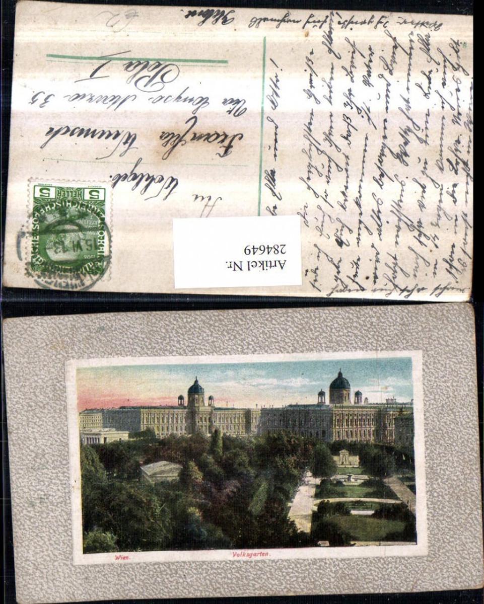 284649,Wien Innere Stadt Volksgarten Passepartout günstig online kaufen