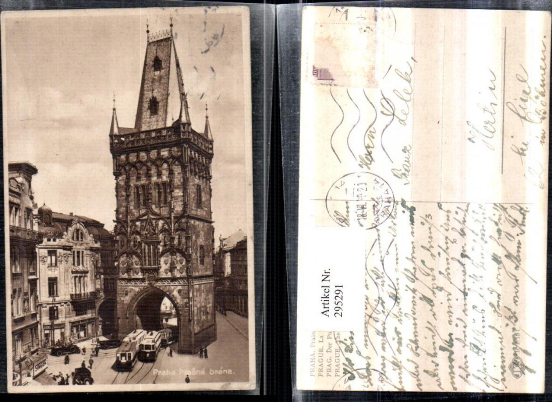 295291,Prag Praha Prasna brana Pulverturm Turm Straßenbahnen günstig online kaufen