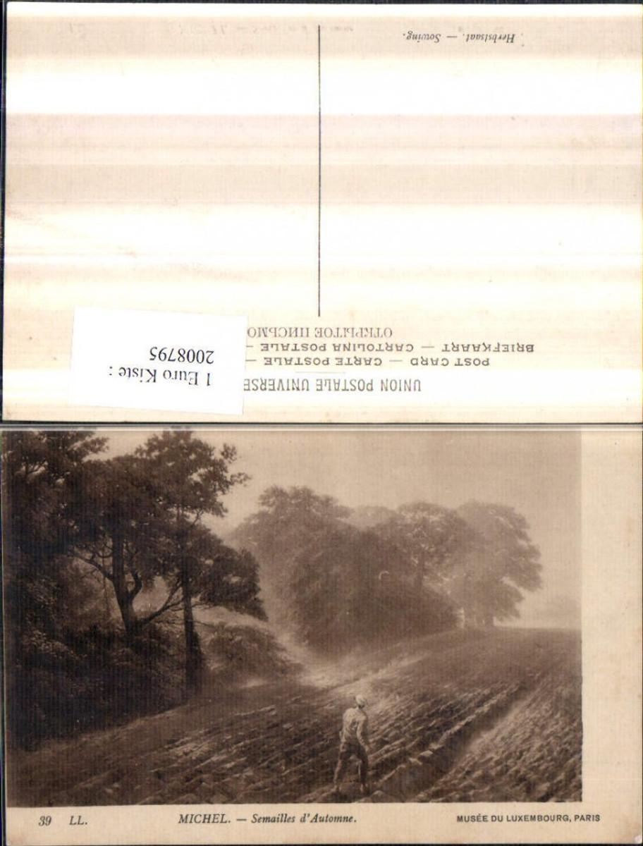 2008795,Künstler AK Michel Semailles d'Automne Wald Feld Mann m. Mütze günstig online kaufen