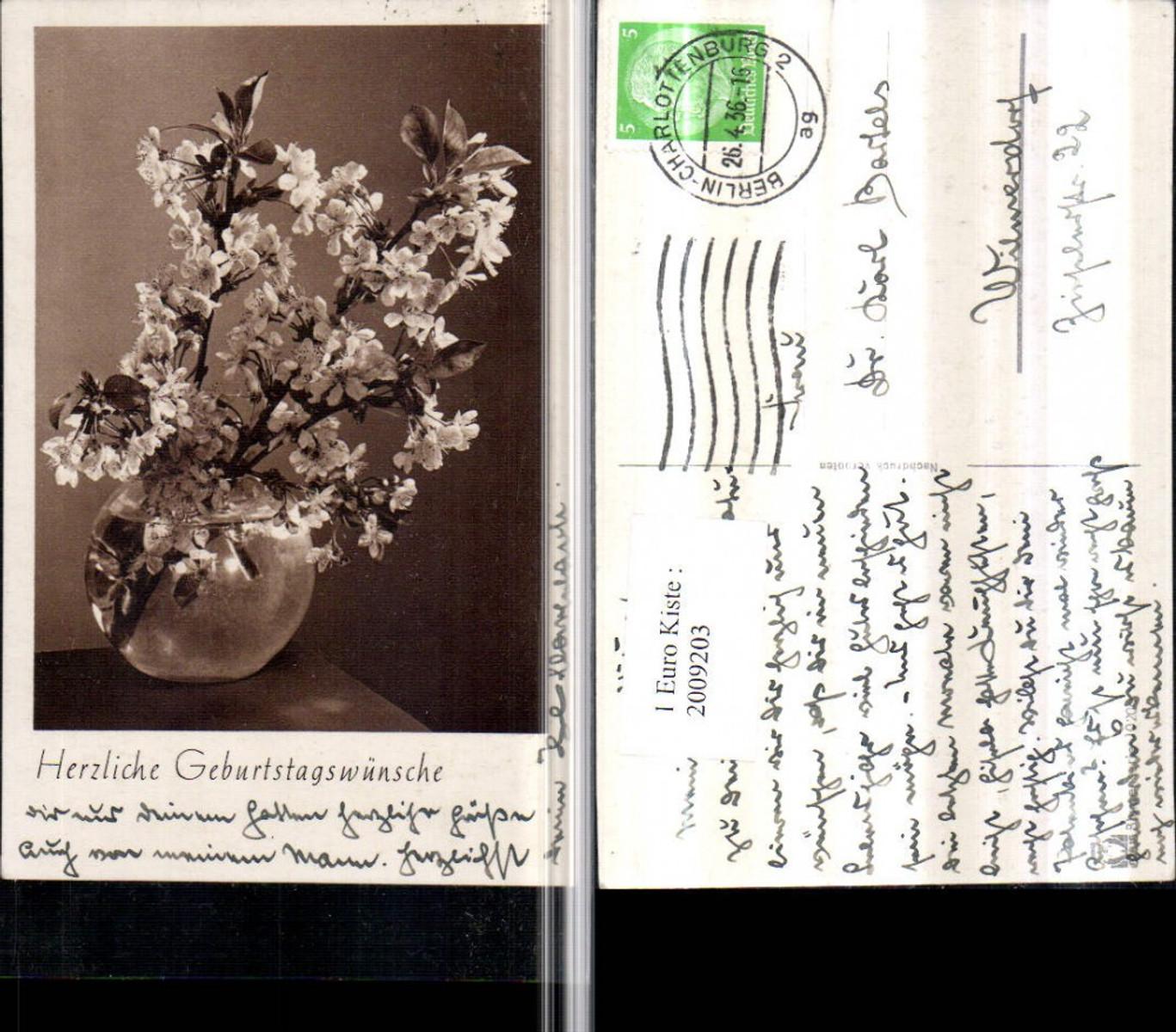 2009203,Geburtstag Blumenvase Vase Blütenzweige günstig online kaufen