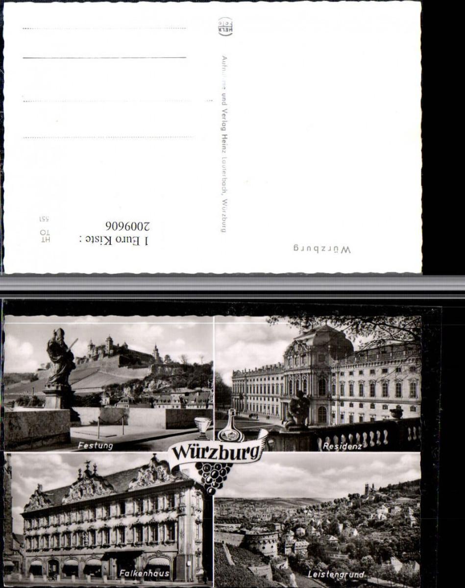 2009606,Würzburg Residenz Festung Falkenhaus Leistengrund Mehrbildkarte günstig online kaufen