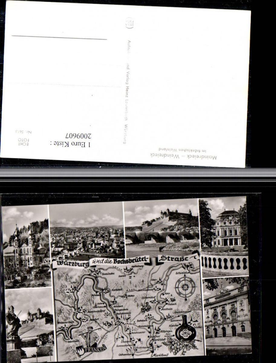 2009607,Würzburg Totale Kirche Brücke Residenz Weindreieck Landkarte Mehrbildkarte günstig online kaufen