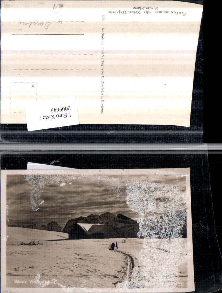 2009643,Bödele Weißenfluh b. Dornbirn Bergkulisse Berghütte Winterbild günstig online kaufen