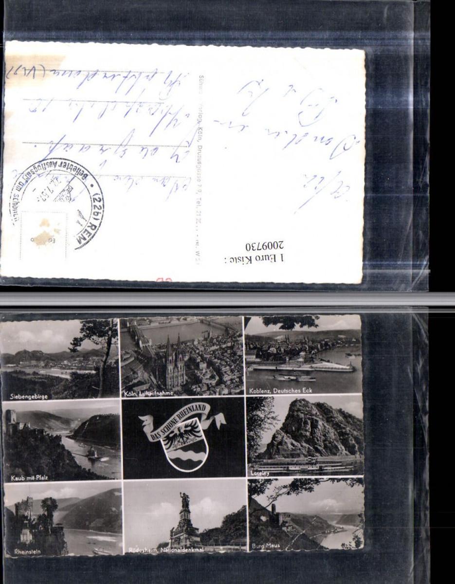 2009730,Köln am Rhein Koblenz Siebengebirge Kaub Pfalz Nationaldenkmal Loreley Mehrbildkarte günstig online kaufen