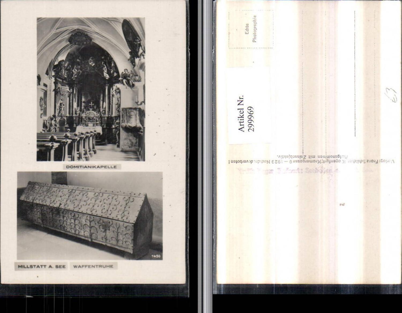 299969,Millstatt am See Domitianikapelle Waffentruhe Mehrbildkarte pub Franz Schilcher 1450 günstig online kaufen