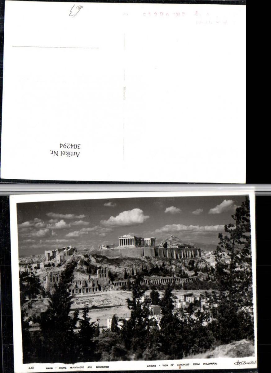 304294,Athens Athen View of Acropolis from Philopapou Akropolis Tempel günstig online kaufen