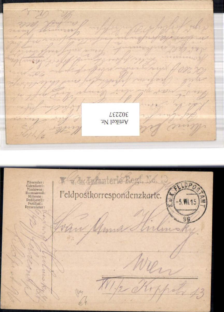 302237,K.k. Feldpost 96 Infanterieregiment 42 Typ 1  günstig online kaufen